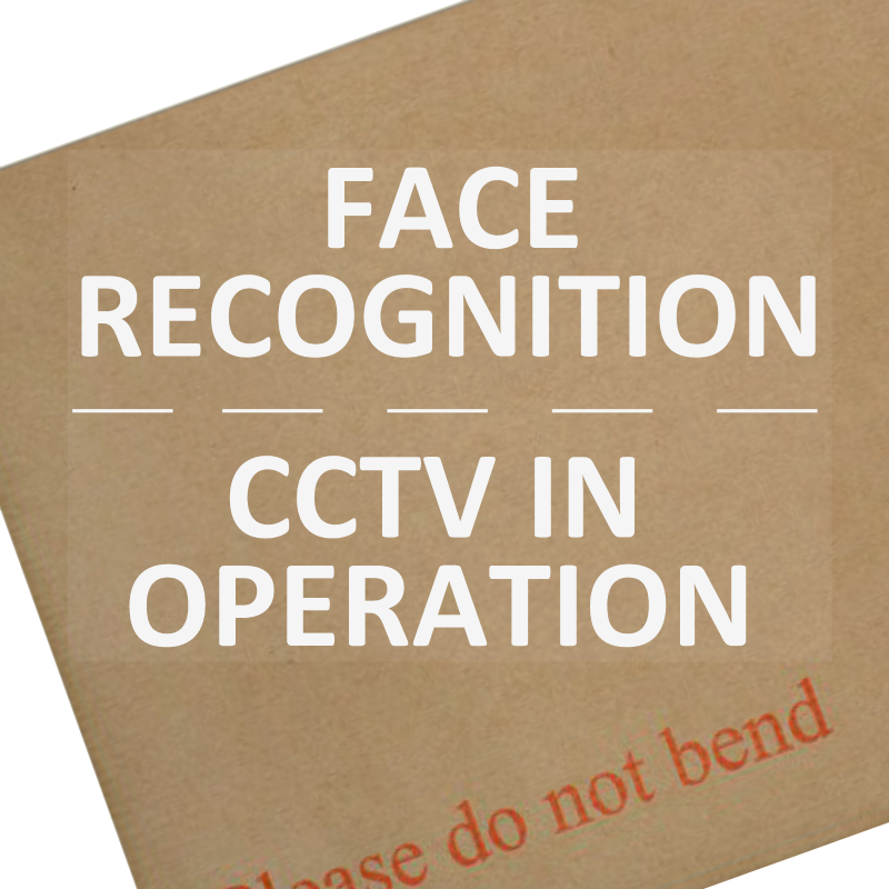 Face Recognition, CCTV In Operation-Security,Safety,Home,Premises,Notice,Warning,Camera,Business,WC